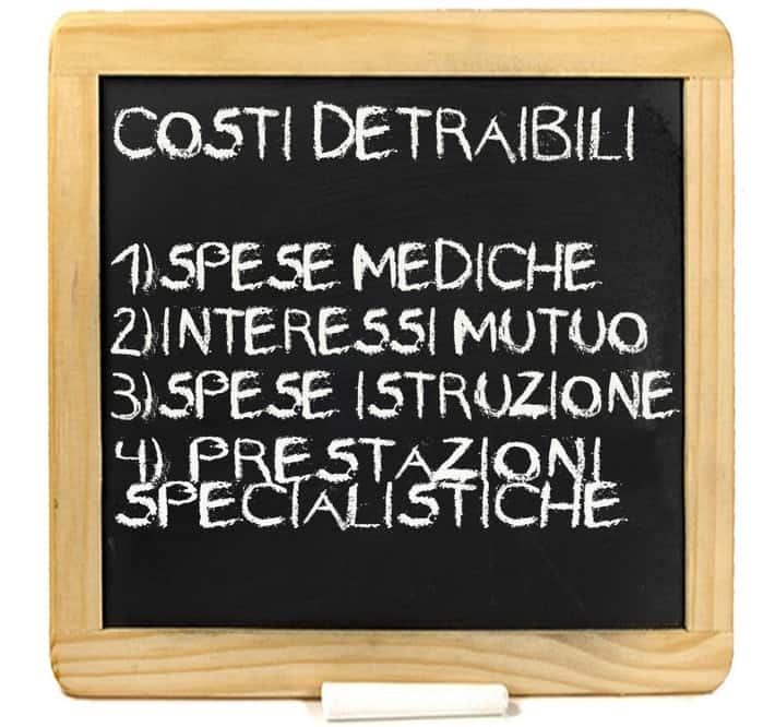 Costi detraibili, come pagare meno tasse