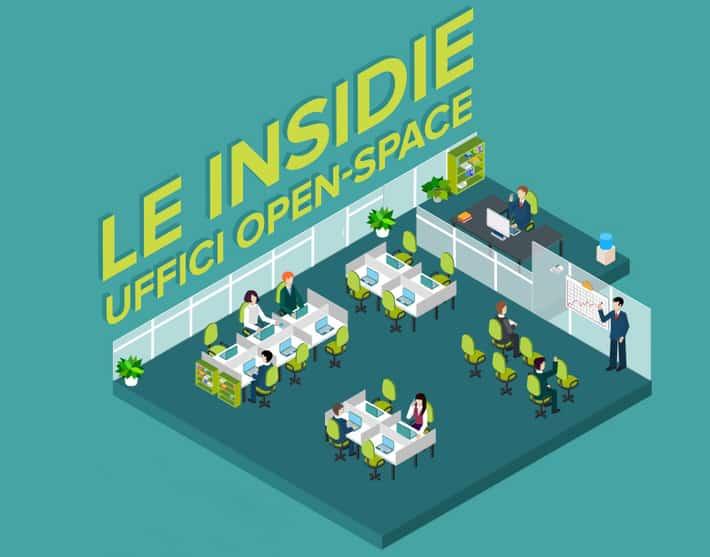 Le insidie degli open space (Infografica)