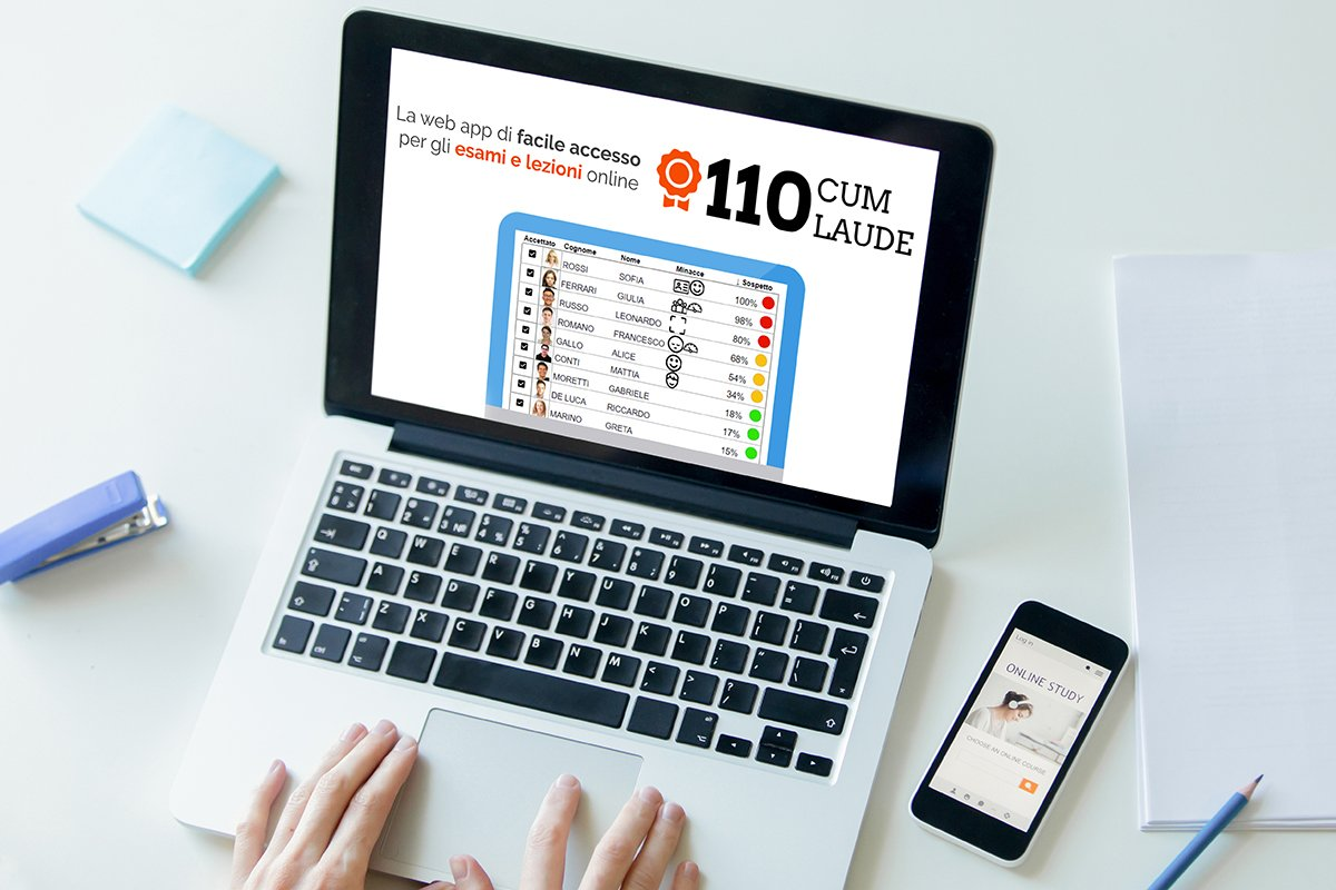 Esami online causa Coronavirus? Arriva 110 Cum Laude, l'app che scopre chi imbroglia!