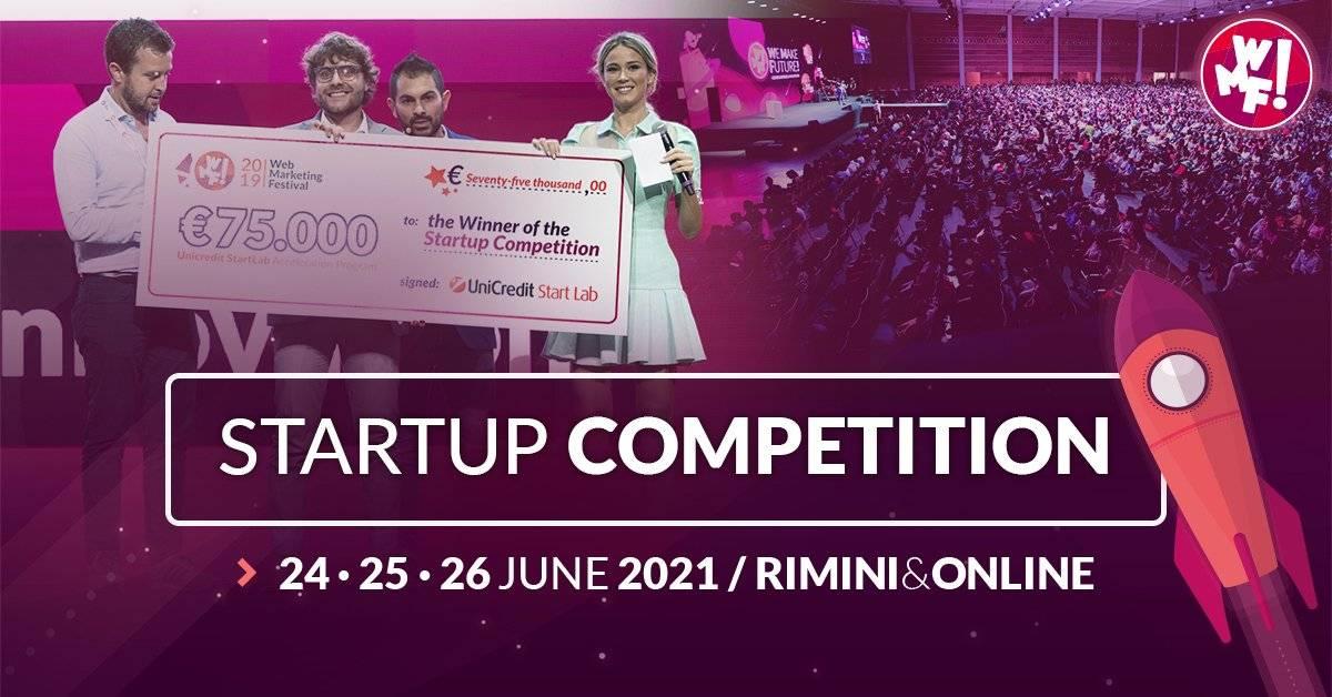 WMF2021: apre la call per la 9a edizione  della Startup Competition più grande d'Italia